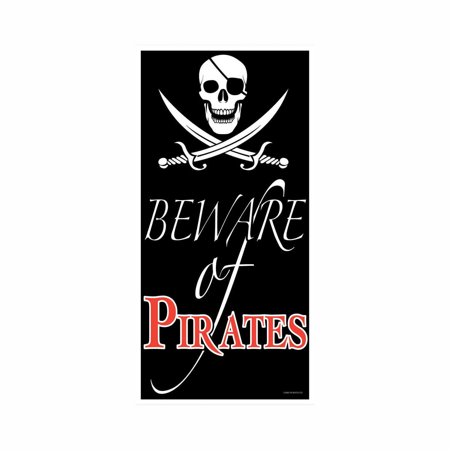 Pirate Party Door Cover Beware Of Pirates Banner Poster Plastic Wall Decoration 34689500087 Ebay