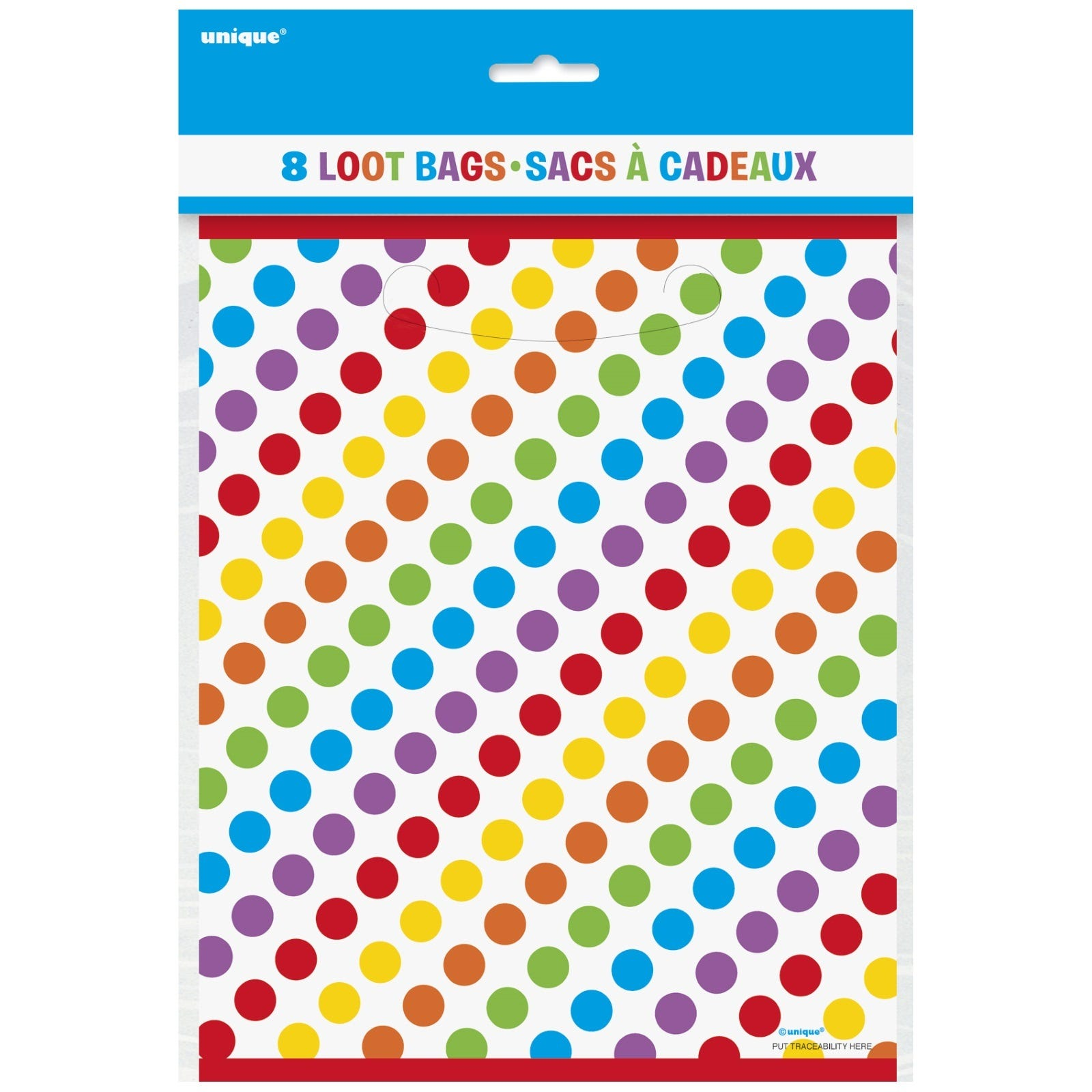 Rainbow birthday dots stripes party supplies 8 lolly for Dots and stripes party theme