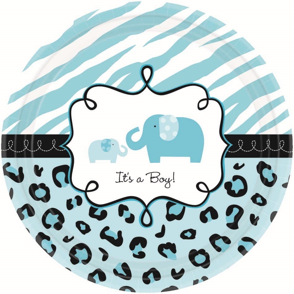 sweet safari boy its a boy baby shower party small paper plates value
