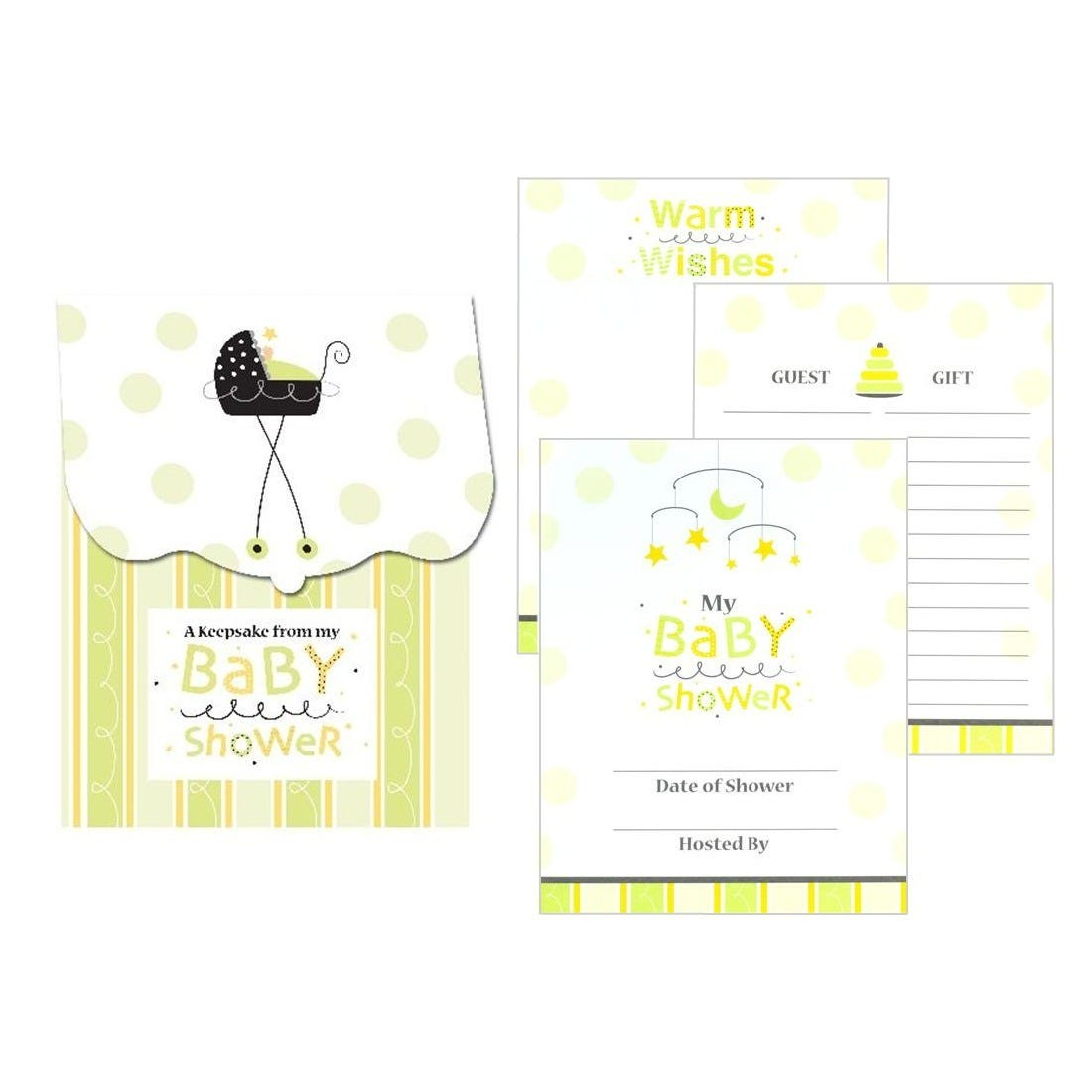 fun baby shower keepsake registry guest book record gifts wishes etc